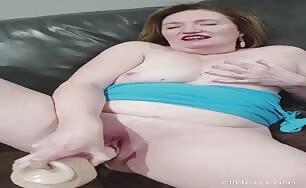 Susan Rides Huge Dildo