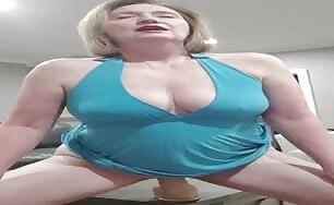 Susan Fucks Huge Dildo