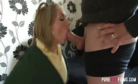 Chubby schoolgirl Ashley Rider wags off school and gets a good fuck