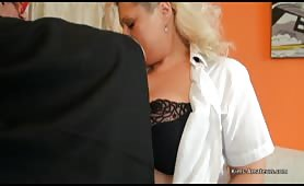 Female student spanked